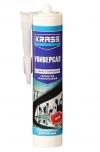 """Герметик силиконовый Универсальный  (серый) 300мл """"KRASS"""""""